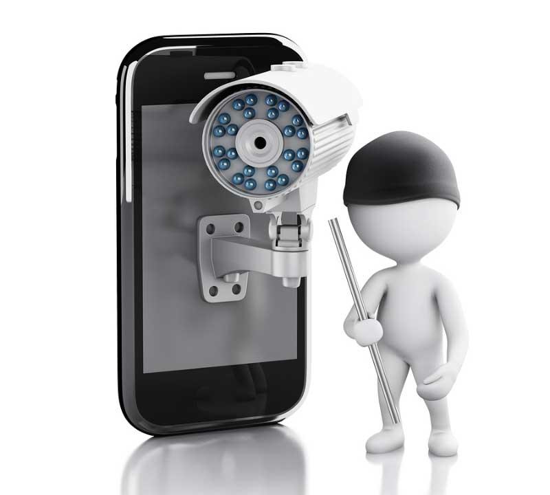 Smartphone CCTV